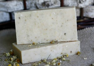 Chamomile Face Soap made by Jhenna Conway and photo by Casey Braden