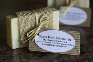 Sweet Baby Chamomile Soap. Made by Jhenna Conway and picture by Casey Braden