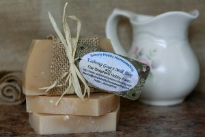 Calming Goat's Milk Soap made by Jhenna Conway and Casey Braden. Photo by Casey Braden