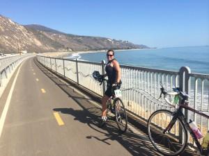 New bike trail along US 101, so nice