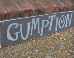 yup, gumption!