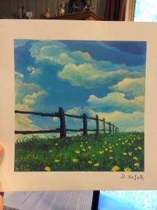 "My new art... ""Fence Line"""