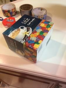 working on a gummi bear box