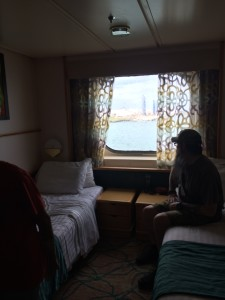 Kevin enjoying the view... contemplating how to get those stupid beds down from the ceiling...