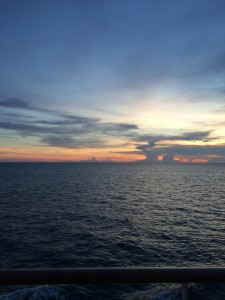 So relaxing... nice sunset at sea