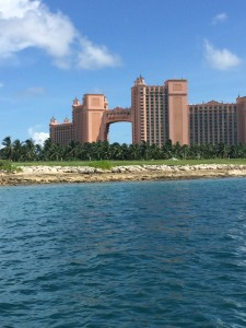 Atlantis! That area above the arch is one big hotel suite... $25,000 per night with 4 nights stay minimum.